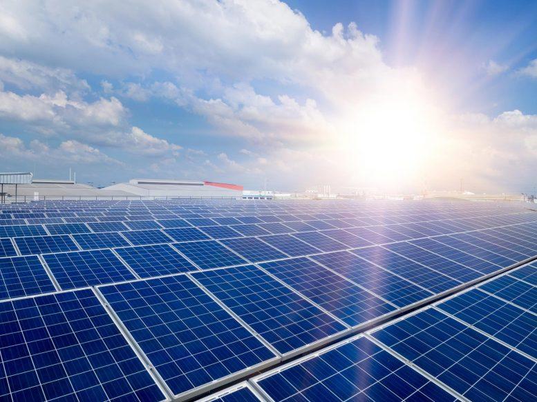 Techo para la construcción de paneles solares